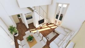 Vendita bilocale Firenze Soffiano ristrutturato su due livelli con terrazzo abitabile